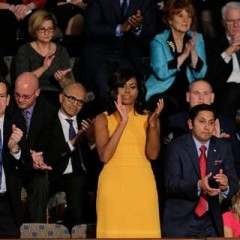 First lady wears sunny shift for State of the Union | Miami Herald